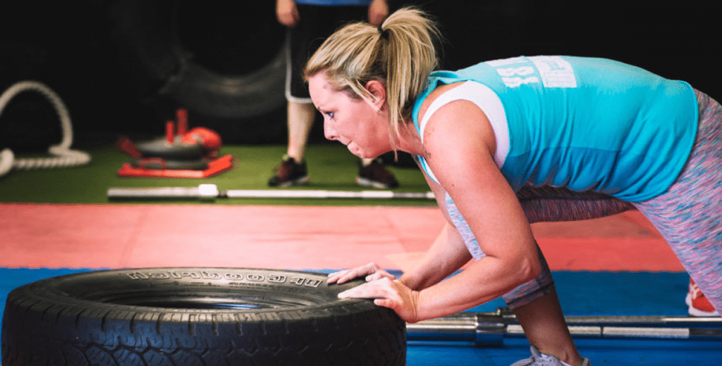 hiit tire pushes
